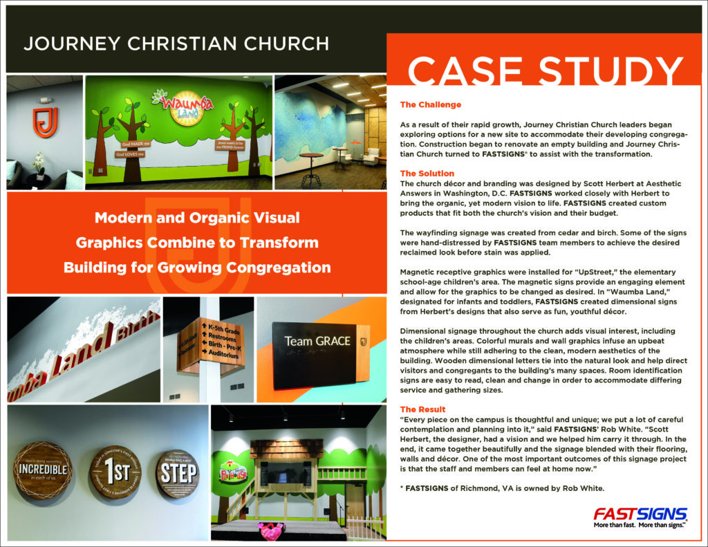A case study of the hard work involved with Journey Christian Church in Richmond, VA.